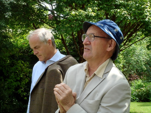 Adrian Masterson listens to Thos Pakenham