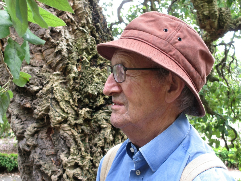 Thomas Pakenham with Quercus suber